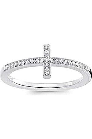 Thomas Sabo THOMAS SABO Damen-Ring Kreuz 925 Diamant (0.2 ct) weiß Gr. 54 (17.2) - D_TR0028-725-14-54