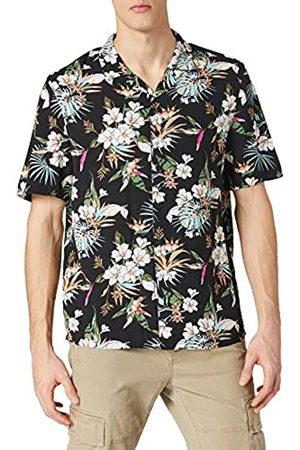 Urban classics Urban Classics Herren Viscose AOP Resort Shirt, Hawaii-Hemd mit Blumenprint und umgeschlagenem Kragen für Männer, Größen S-5XL