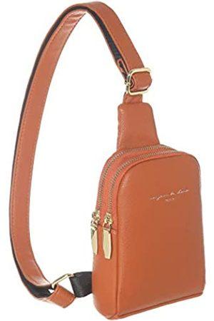 INICAT INICAT Handy-Umhängetasche aus Kunstleder, kleine Geldbörse für Damen, Teenager, Mädchen, Rot (Orange/Rot)