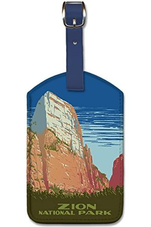 Pacifica Island Art Pacifica Island Art Leatherette Luggage Baggage Tag - Zion National Park