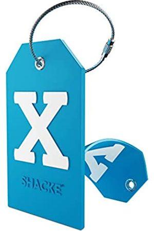 Shacke Initial Gepäckanhänger mit Sichtschutz und Edelstahlschlaufe (Aqua Teal) (X)