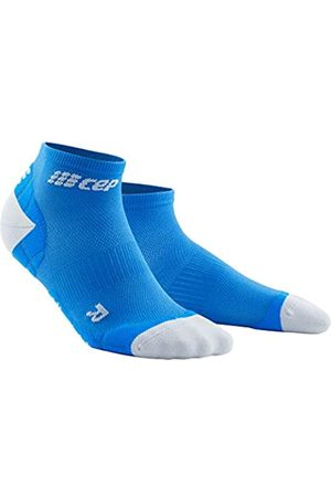 CEP CEP – ULTRALIGHT COMPRESSION LOW CUT SOCKS für Damen | Kurze Sportsocken mit Kompression in cyan / hellgrau | Größe III