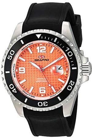 Seapro Seapro Abyss 2000M Herren Taucheruhr Edelstahl Quarz Silikon Armband Schwarz 21 Casual (Modell: SP0743)