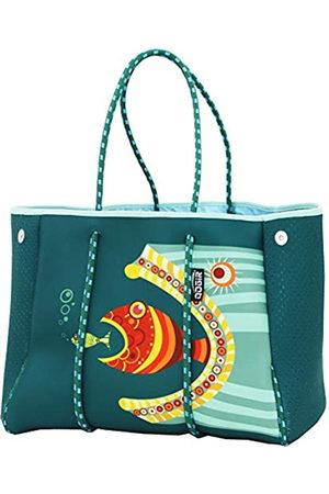 QOGiR QOGiR Neopren-Mehrzweck-Strandtasche mit Innentasche mit Reißverschluss und beweglichem Brett. (Grün) - stb000