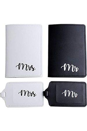 Snogisa Snogisa Mr and Mrs Honeymoon Reisepasshüllen-Set, Reisepasshüllen und Gepäckanhänger, Geschenk-Set für Hochzeit, Brautparty