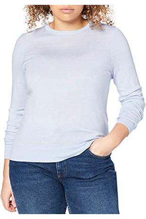 MERAKI Damen Strickpullover - Amazon-Marke: Merino Pullover Damen mit Rundhals, (Light Blue), 44