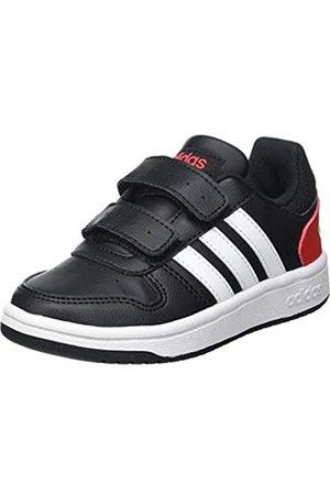 adidas Adidas Hoops 2.0 CMF I Basketball Shoe, core Black/FTWR White/Vivid red