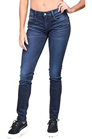 Le Temps des Cerises Damen JFPOWER3WA206 Skinny Jeans, (Blue/Black 3286)