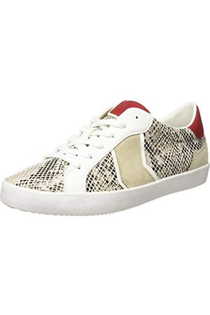 Geox Geox Damen D WARLEY A Sneaker, BEIGE/Optic White