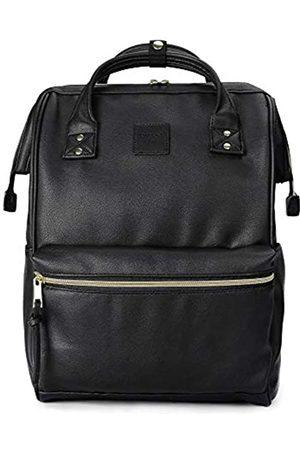 Kah&Kee Kah&Kee Leder Rucksack Wickeltasche mit Laptopfach Travel School für Damen (Schwarz
