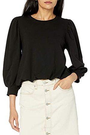 THE DROP Damen-Sweatshirt Leona, kurze Puffärmel, Rundhalsausschnitt, French Terry