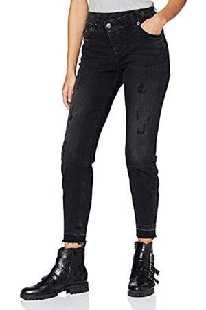 Herrlicher Damen Maze Slim Cropped Denim Black Cashmere Touch Jeans
