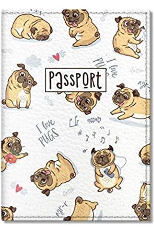 Quttie Quttie, Cute Vegan Eco Leather Passport Cover for Women, Men