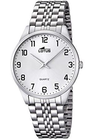 Lotus Herren Analog Quarz Uhr mit Edelstahl Armband 15883/1