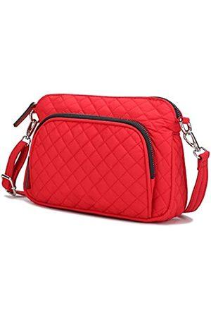MKF Collection Mia K Noni Kosmetiktasche, gesteppt, Baumwolle, leicht, für den ganzen Körper (rot)