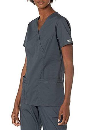 Cherokee Damen Workwear Core Stretch V-Ausschnitt Scrubs Shirt - Grau - Klein