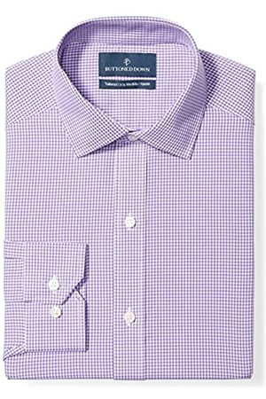 Buttoned Down Tailored Fit Spread-Collar Pattern Non-Iron Dress Shirt Smoking Hemd, purple small gingham