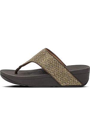 Fitflop Fitflop Damen Olive Glitter Weave Toe-Thongs Flipflop