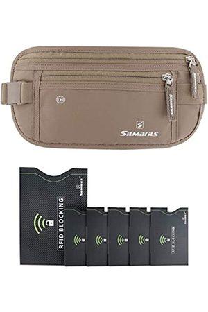 SILMARILS Silmarils RFID Blocking Travel Money Belt/Hidden Waist Pack + 6 Bonus Sleeves (Large)