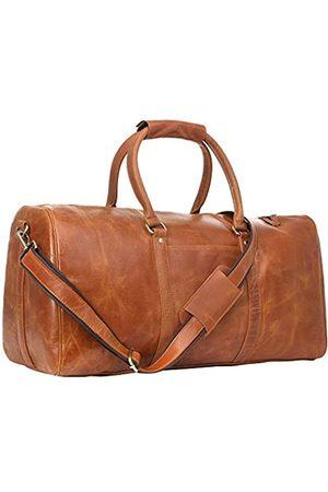 GearFourth Reisetasche für Damen und Herren, 55,9 cm, echtes Leder, hochwertige Verarbeitung