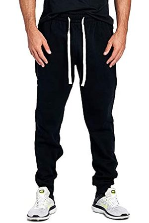 PROGO USA Herren Casual Jogger Sweatpants Basic Fleece Marled Jogger Hose Elastische Taille - - Mittel