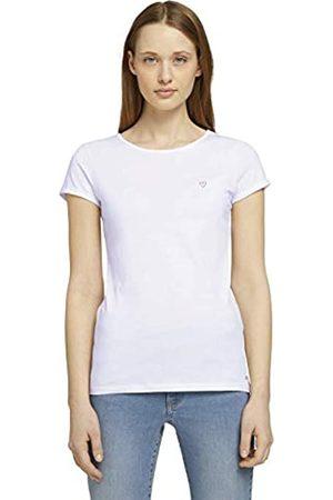 TOM TAILOR TOM TAILOR Denim Damen 1026452 Stitching T-Shirt, 14482-Deep Black