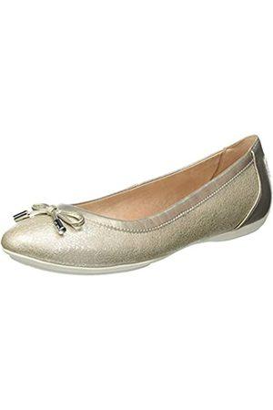 Geox Geox Womens D Charlene B Ballet Flat, Platinum/Champagne