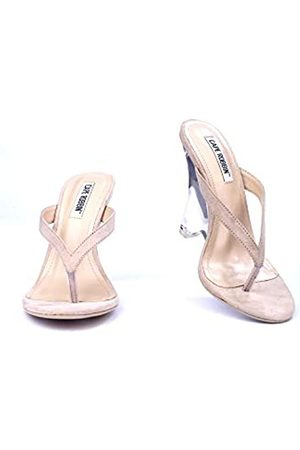 Cape Robbin Spectacular Clear Chunky Block Wedge Heels für Frauen, Transparent Open Toe Schuhe Heels für Frauen, (nude)