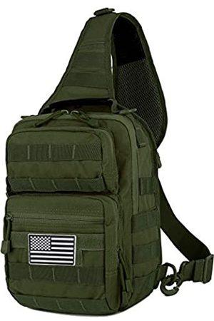 QT&QY QT&QY Taktische Sling Bag für Herren, kleiner Militär-Rover-Schulter-Rucksack, EDC Brusttasche, Molle Assault Range Tasche, Unisex-Erwachsene