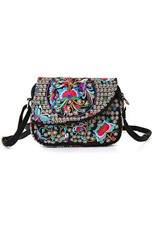 Goodhan Goodhan Handgefertigte Mini-Umhängetasche für Damen, Vintage-Stil, für Handy, kleine Handtasche, Münzbörse (Stil 08: größere Version)
