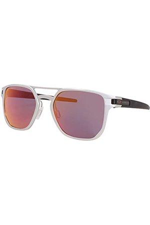 Oakley Herren OO4128 Latch Alpha Sonnenbrille, Matte Silver/Torch iridium