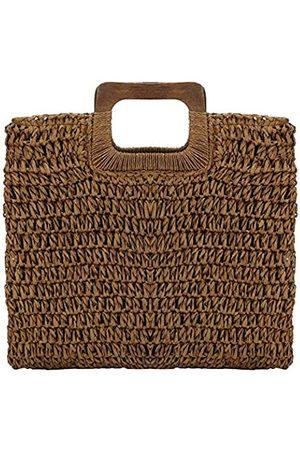 YYW Stroh-Handtasche für Damen, handgewebt, groß, lässig, Hobo-Stroh-Tasche, Strandtasche mit Futter, für den täglichen Gebrauch, Strand