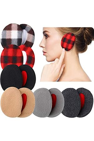 SATINIOR 6 Paar Ohrenschützer Bandlos Vlies Ohrenwärmer Winter Ohrenschützer Unisex, 6 Farben (Reine Farbe