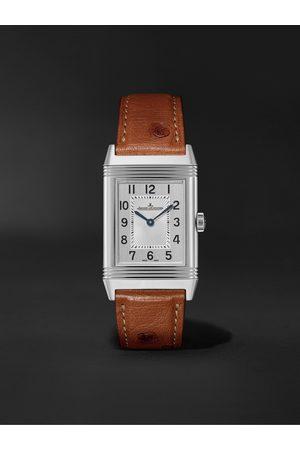 Jaeger-LeCoultre Herren Uhren - Reverso Classic Medium Thin Hand-Wound 24.4mm Stainless Steel and Ostrich Watch, Ref. No. Q2548441