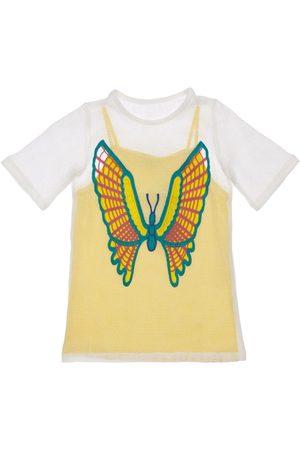 Stella McCartney Mädchen Kleider - 2-in-1-meshkleid Mit Schmetterlingshäkelei