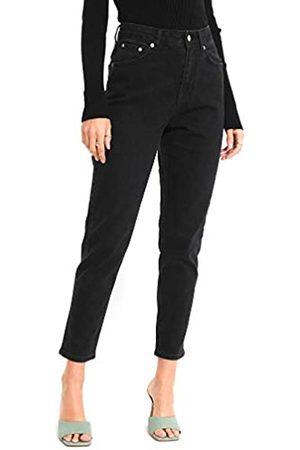 NA-KD Damen Comfort Mom Jeans, Black