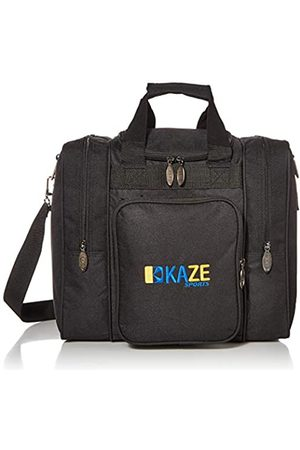KAZE SPORTS KAZE SPORTS Deluxe Bowling Bag for Single Ball - Tote Bag with Two Side Pockets (Black)
