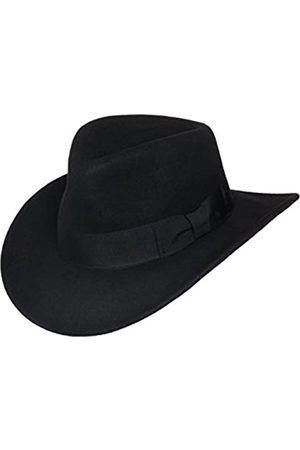 Silver Canyon Boot and Clothing Company Herren Hüte - Indiana Outback Fedora-Hut Knautschbar Wollfilz für Herren Mittel