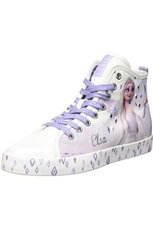 Geox Geox JR CIAK Girl C Sneaker, White/Lilac