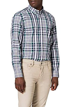 Tommy Hilfiger Tommy Hilfiger Herren MIDSCALE Check Shirt Hemd, Arizona Rot/Yale Navy/Multi