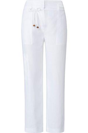 raffaello rossi Damen Hosen & Jeans - Knöchellange Hose aus 100% Leinen weiss