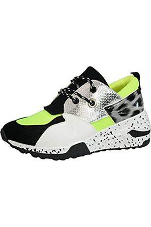LUCKY STEP Damen-Sneaker mit Keilabsatz, modisch, Freizeitschuhe, (Lime Leopard)