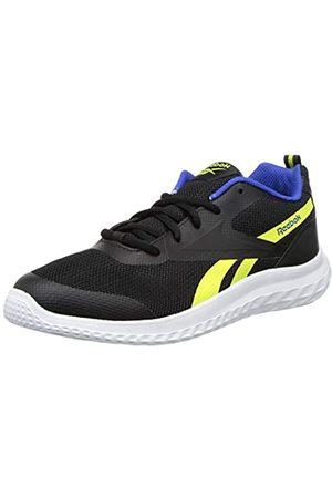 Reebok Jungen Schuhe - Reebok Rush Runner 3.0 Road Running Shoe, Black/Yellow Flare/Court Blue