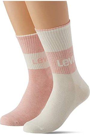 Levi's Herren Socken & Strümpfe - Unisex-Adult Sustainable Regular Cut (2 Pack) Socks, pink/White