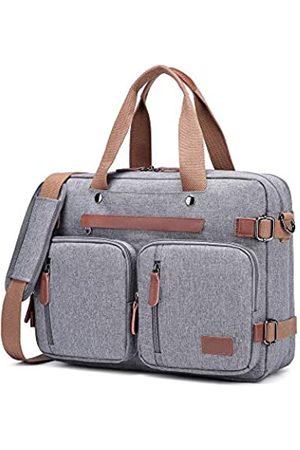 MRPLUM Umwandelbarer Rucksack, multifunktional, Segeltuch, Schultertasche, Umhängetasche, Laptoptasche, Business, Aktentasche, Handgepäck, Computertasche, Reiserucksack, passend für 17-Zoll-Laptop
