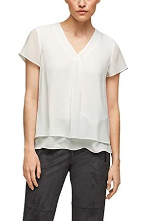 s.Oliver Damen Layering-Bluse aus Chiffon soft white 38