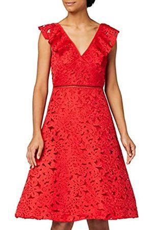 TRUTH & FABLE Damen Partykleider - Amazon-Marke: Damen Partykleid Laser Cut Prom, 34