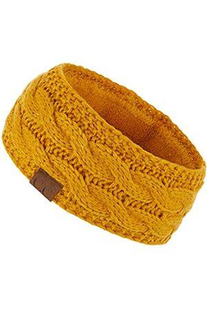 HATSANDSCARF Damen Stirnbänder - C.C Stirnband mit Fleece-Futter, dick gestrickt