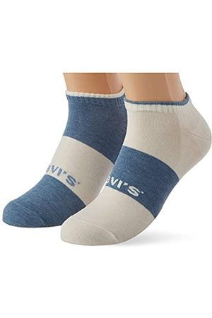 Levi's Unisex-Adult Sustainable Low Cut (2 Pack) Socks, Blue/White