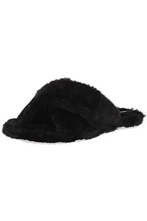 Vince Camuto Womens Kortendie Faux Fur Slipper, Black